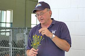 Dr. Glenn Miller going over plant identification.