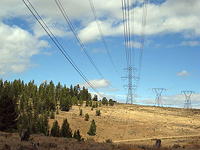 Transmission lines that commonly crossing central Nevada.