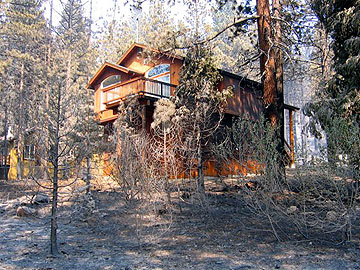 Home in Lake Tahoe that was saved during recent fire.