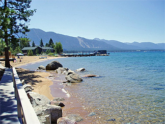 Near shore at Lake Tahoe
