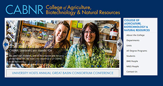 College of Ag's new website front page