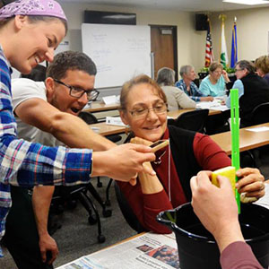 Master Gardeners learning with training activity