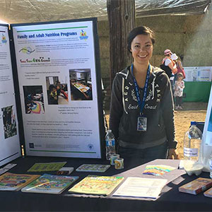 Ana Nunez Zepeda at an educational booth