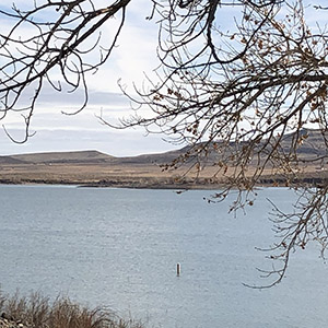 Lahontan Reservoir in Churchill County, Nevada