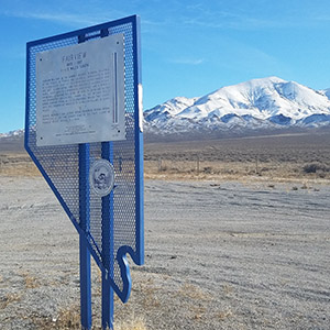 Fairview Peak marker in Churchill County, Nevada