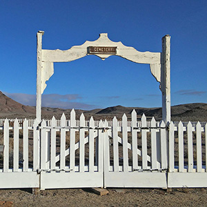 Cemetery Gate in Lyon County, NV