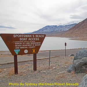Sportsman's Beach sign