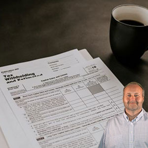 Tax forms and coffee with Mike Bindrup