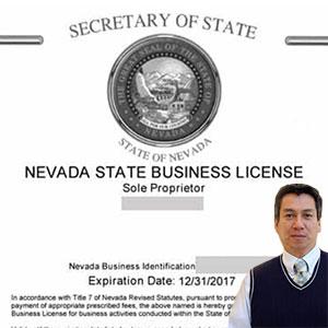 Sample business license and Juan Salas