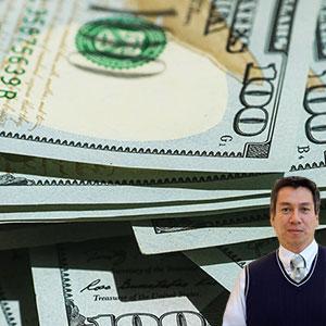 Lots of $100 bills and Juan Salas