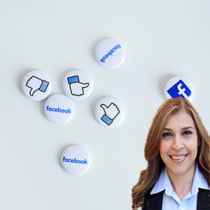 Facebook buttons with Reyna Mendez