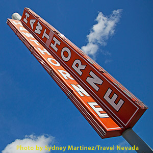 Hawthorne sign in Hawthorne, Nevada