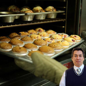 Several muffins with Juan Salas