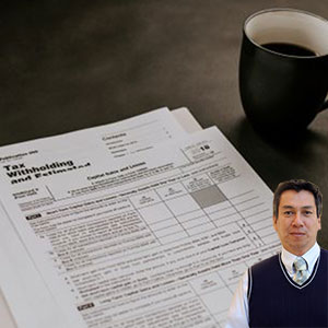 Tax forms and coffee with Juan Salas