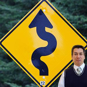 Road sign with Juan Salas