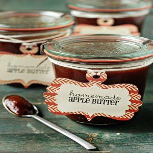 Homemade apple butter in a jar.