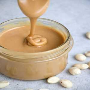 A jar of peanut butter dip