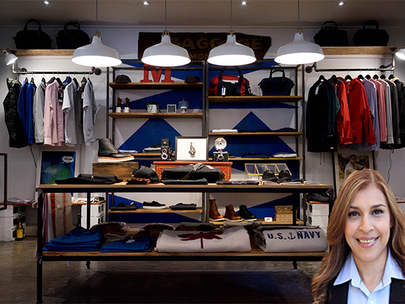 Clothing store with Reyna Mendez