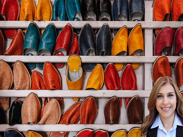 Inventory of shoes with Reyna Mendez