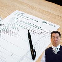 Tax papers and Juan Salas