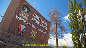 Hawthorne Army Depot sign