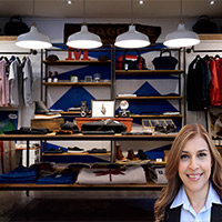 Clothing store with lots of inventory with Reyna Mendez