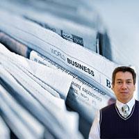 Business papers and Juan Salas