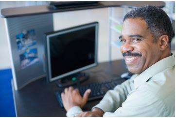 man at the computer