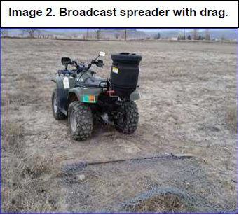 broadcast spreader with drag