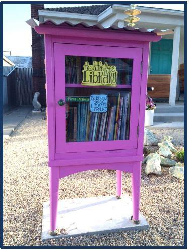 Purple little free library