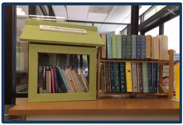 Indoor little free library