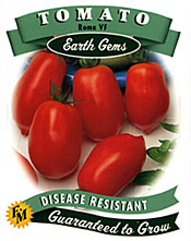Photo of a tomato seed packet