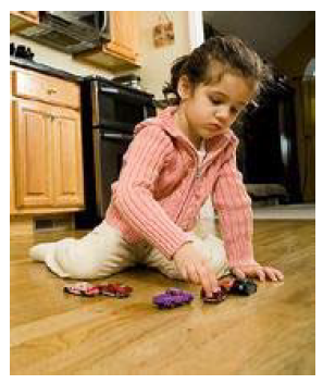 Girl playing toys