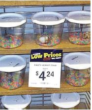 Low prices for candy