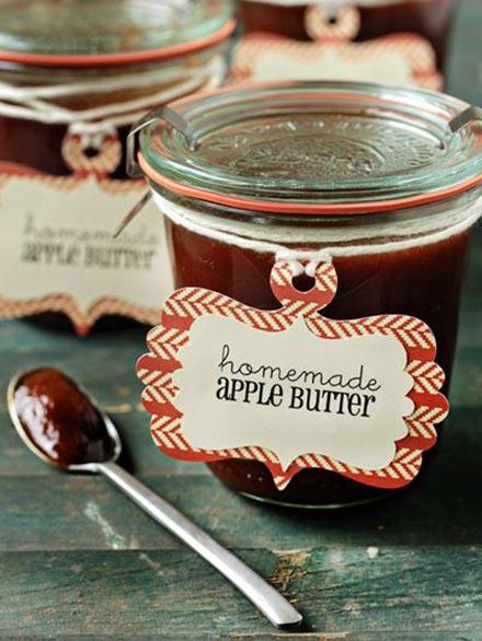 Homemade Apple Butter in a jar