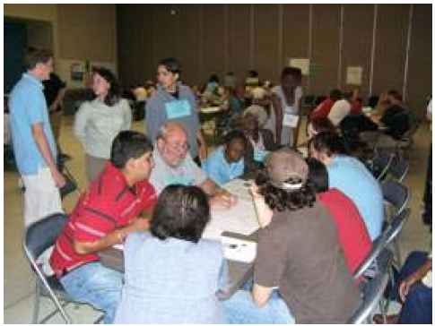 People doing a tabletop exercise