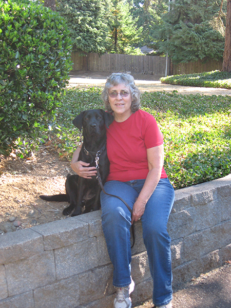 Margaret Paoli with her dog