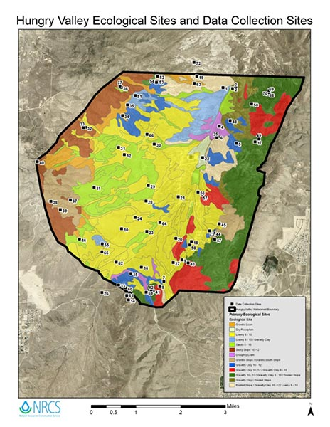Ecological site map of Hungry Valley, Nevada