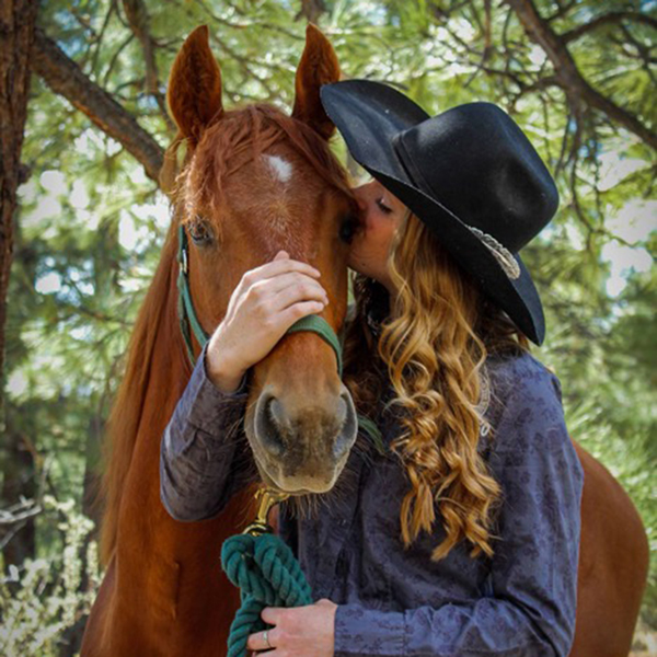Chloe Young with her horse