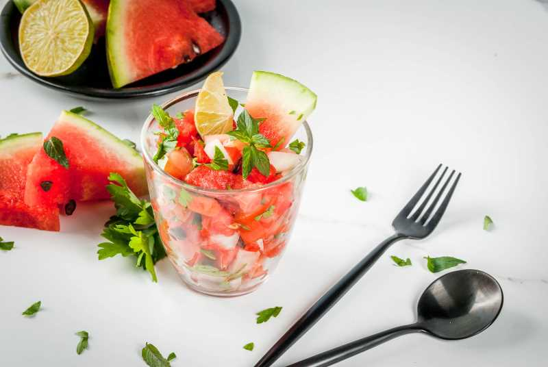 A picture of watermelon salsa