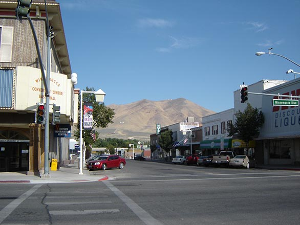 main street of the town of winnemmucca
