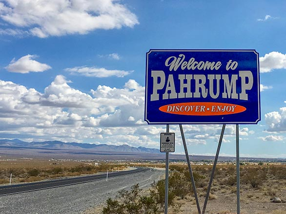 pahrump welcome sign