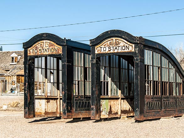 historic rusty subway station entrances