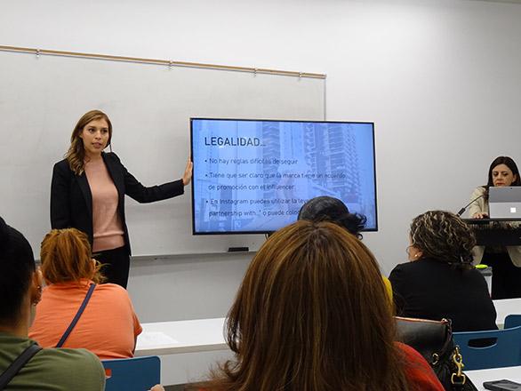 Reyna Teaching a Class